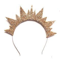 Elbie Glitter Crown Headband - Gold or Gunmetal Crown Headband, Diy Headband, Headbands, Crown Hair, Diy Carnaval, Tiaras Carnaval, Halloween Headband, Halloween 2018, Halloween Party