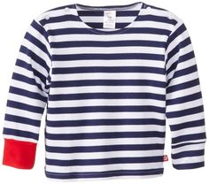 {inspiration} Zutano Baby-Boys Newborn Primary Stripe Long Sleeve Sailing T-Shirt, Navy/White, 6 Months