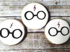 Harry Potter sugar cookies with royal icing