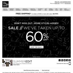 Saks Fifth Avenue - Sale styles up to 60% off