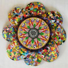 Mandala arte feita de skateboard
