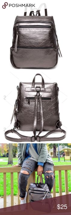 PU Leather Metallic Backpack, NWOT, Sammy Dress PU Leather Metallic Backpack, NWOT, Sammy Dress. Never used. Brand new. It did not come with tags. Gifted from Sammy Dress. Sammy Dress Bags Backpacks