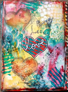 Love Mixed Media Art Journal page