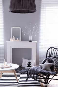 Grey Sitting Room With White Accents