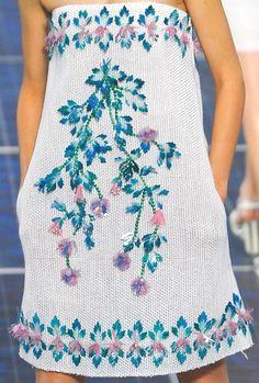 Chanel ss13. image via pattern prints journal.