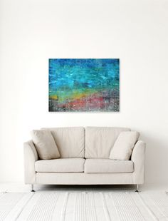 18 x 24 Original Painting Mixed Media  Abstract by KateLawlessArt, $189.00