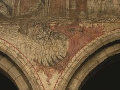 15th century painting of the Harrowing of Hell at the church of Saints Peter and Paul in Pickering, Yorkshire.