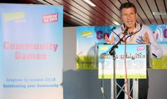 As part of the Community Games Relay, Lord Seb Coe thanked 69 volunteers for delivering Olympic legacy in their local communities.