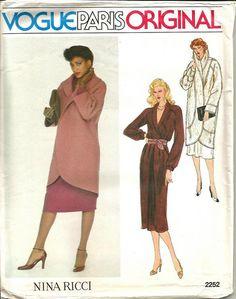 1970s Flapper Style Coat Cocoon Wrap Coat & Dress by kinseysue
