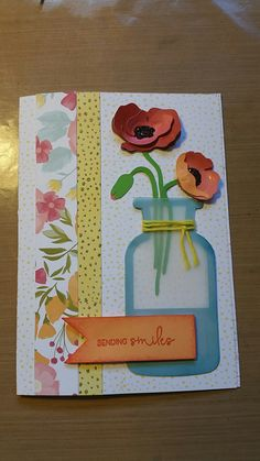 #flowermarket #cricut everything on this card is from Close to My Heart except the glitter.