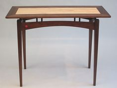 Arched Skirt Console Table by Robin Zirker: Wood Console Table available at www.artfulhome.com