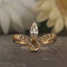 Vintage Marquise Diamond Ring