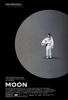Moon. With an intense performance by Sam Rockwell, 'Moon' is a compelling work of science fiction. This is a subtle, ideas-driven film harking back to the psychological drama of old fashioned sci-fi. The film follows Sam, a lonely space age concierge and his deteriorating relationship with a monotone robot played unflappably by Kevin Spacey. A fitting soundtrack by Clint Mansell mirrors Sam's own descent into apparent madness.