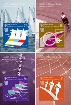 Paul Smith: London Olympic and Paralympic Stamps in collaboration with the Isle Of Man Post Office.
