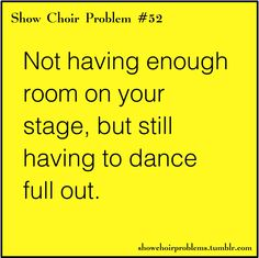 Show Choir Problems: @cfgaspardo have you seen these???