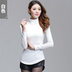 11Color Large size 4XL Turtleneck Sweater 2016 New Hedging Turtleneck Knit Shirt Fashion Slim Authentic Basic Tops Free Shipping