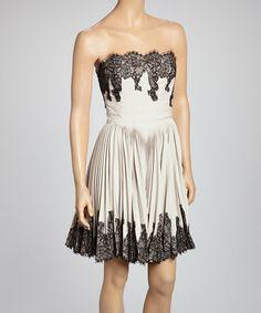 Look at this #zulilyfind! Clay & Black Lace Strapless Dress by Sweet Sinammon #zulilyfinds