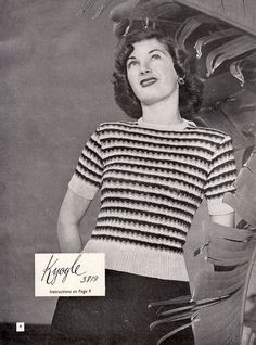 1940s Vintage Knitting Patterns For Women  by BessieAndMaive, $9.00