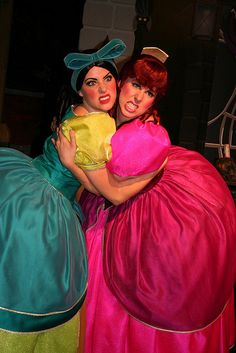 The Ugly Stepsisters: Anastasia and Drizella from Cinderella. View more EPIC cosplay at http://pinterest.com/SuburbanFandom/cosplay/