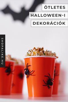 Halloweeni dekorációkat gyorsan és egyszerűen is lehet készíteni. Nem kell órákon keresztül tökfaragással bíbelődni. Elég pár műanyag pohár és ragasztó, hogy ezeket az ötletes halloweeni dekorációt elkészítsük. Használhatjuk simán üdítőspohárnak vagy ételeket is tálalhatunk benne, mint pop-corn vagy chips. A hatásért ragasszunk rá pár pókot, hogy viszonozza az ünnep félelmetes hangulatát. Persze lehetünk kreatívabbak is, ha időnk engedi. #halloweenideko #dekoötletek #dekoráció #halloweenbuli