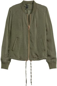 Make room for all those bomber jackets you will desire and require. H&M - Pilot Jacket - Khaki green - Ladies