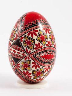 Easter eggs in batik technique batik red