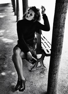 Femme Noir: Nanou Vandecruys by Patric Shaw for UK Marie Claire September 2013