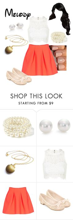 """Disney - Melody"" by briony-jae ❤ liked on Polyvore featuring Mikimoto, Topshop, Kenzo and Monsoon"