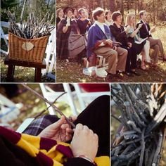 Harry Potter themed wedding.. not that Mike would go along with it but amazing none the less.