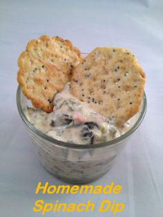 Easy Homemade Spinach Dip. Very salty, think id only do half a package of onion mix next time. Still good!