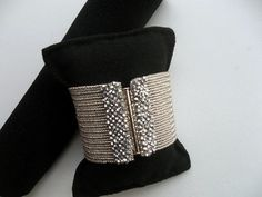 Herringbone bracelet Beadwork bracelet Seed bead by GULDENTAKI