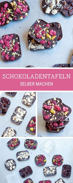 obst Make edible gifts yourself. Make edible gifts yourself. Do It Yourself Chocolate Bars With Superfood Sweet Homemade Chocolate Bars, Chocolate Diy, Chocolate Recipes, Superfood, Cupcake Recipes, Dessert Recipes, Chocolates, Snacks Sains, Snacks Für Party