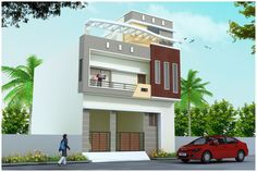 Building Elevation, House Elevation, Front Elevation, House Front Design, Small House Design, Smart House, Indian Homes, Ceiling Ideas, Exterior Design