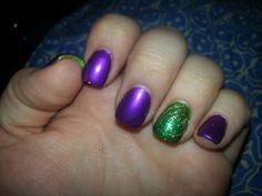 My mardi gras nails!