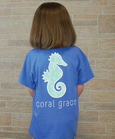 Youth Periwinkle T-Shirt with Starfish Print