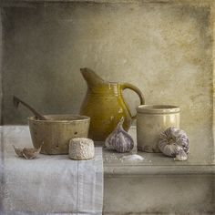 Tineke Stoffels - Still Life With Salt And Cheese