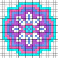 8 Sided Snowflake Design Perler Bead Pattern / Bead Sprite