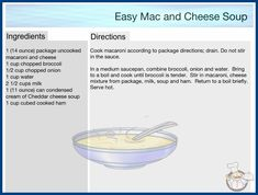 Easy Mac And Cheese, Macaroni And Cheese, Cheese Soup, Cookbook Recipes, Bring It On, Cooking, Diy, Kitchen, Mac And Cheese