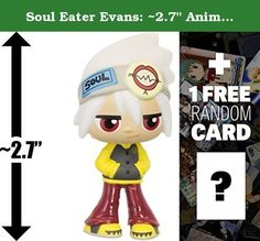 "Soul Eater Evans: ~2.7"" Anime x Funko Mystery Minis Vinyl Figure + 1 FREE Anime Themed Trading Card Bundle [61463]. Mystery Minis is a crossover vinyl figure series by Funko and other famous franchises such as Disney, Pixar, DC Comics, Marvel Comics, Star Wars, Simpsons, South Park, Uglydoll, etc. Each figure is about ~1"" to ~3"" tall and crafted in a Japanese anime/manga super-deformed style (NOTE: due to the unique design of each character, the actual size of the figures may be smaller…"