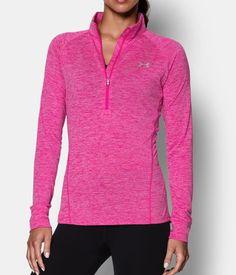 Women's UA Tech™ ½ Zip Twist, REBEL PINK, Front