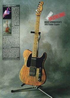 1953 Fender Esquire Guitar Poster - Bruce Springsteen - Music Gift - Retro Music Poster - Vintage Music Decor - Music Memorabilia by MusicSellerz on Etsy