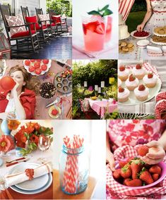 Red would be a very cute theme with a sort of picnic/retro/casual feel