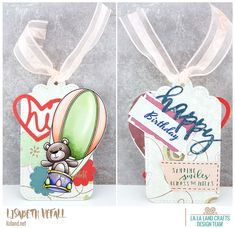 It is Monday again so we're due another La-La Land Crafts post. This time the theme is anything goes so I decided to make a tag! LLLC is having a sale until tomorrow night as well. Happy Birthday, Smile, Tags, Crafts, Design, La La Land, Cards, Happy Brithday, Manualidades
