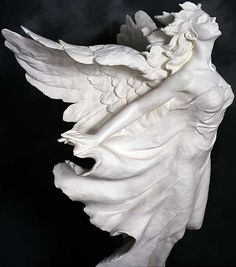 Transcendence (side) - Parian II Sculpture by Gaylord Ho