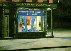 Drug Store, 1927, Edward Hopper