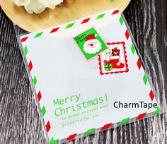 Festive Santa Gift Bags Cello Bags Self-adhesive Cookie bags - Favors Bags - Party bags Set of 20 bags CB5   cello #cellophane #bags #cookiebag #plastic #bags #bag #festive #xmas #christmas #deer #red #holiday   $2.00 buy from http://www.charmtape.com