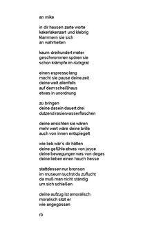 ein Gedicht an einen alten Freund