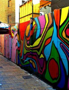 Colourful street-art in Zaragoza, Spain