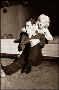 "Marilyn & Yevs Montand were in ""Let's Make Love"" together 1960"