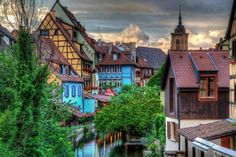 The beautiful Colmar, France. The Colmar is a small city in northeastern France, with inhabitants. Places Around The World, Travel Around The World, Around The Worlds, Cinque Terre, Santorini, Location Airbnb, Shirakawa Go, Village Photos, Lausanne